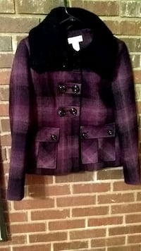 maroon and black button-up jacket 867 mi