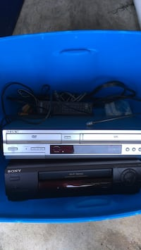 VHS,DVD and VHS with remotes 2 separate units