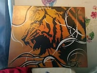 Tiger painting(prepay only Staunton, 24401