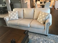 White Cream fabric 3-seat sofa Kansas City, 64157