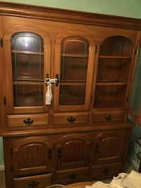 brown wooden china buffet hutch Suitland, 20746