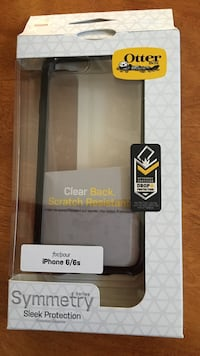 black and clear Otter Box iPhone 6/6s case