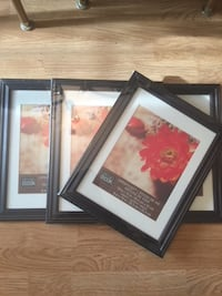 "4 new Picture frames, sturdy, dark brown, for 8x10"" pics and prints. Chantilly"