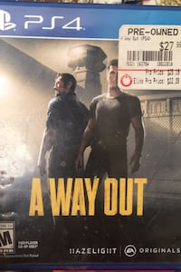 A Way Out PS4 Game Martinsburg, 25401
