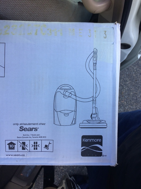 kenmore canister vacuum cleaner box