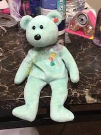 White and green bear plush toy Seven Corners, 22044