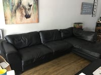 black leather sectional sofa with ottoman Toronto, M9L 2C3