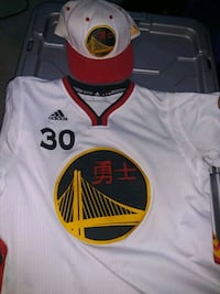 Chinese new year warriors jersey and hat combo