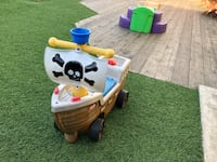 Pirate ship ride on toy