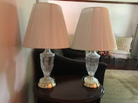 Set of 2 crystal lamps and shades. LANHAM