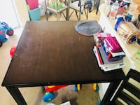 Wood dining table with two chairs  Las Cruces, 88011