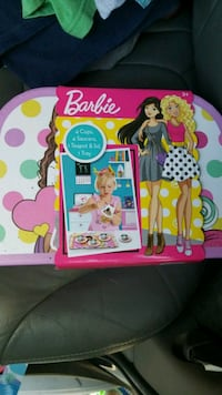 pink and multicolored Barbie baking toy set Largo, 33771