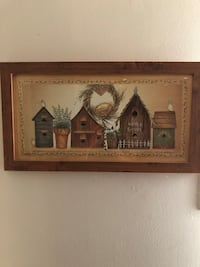 Framed Folk Art Birds and Bird Houses Germantown, 20874