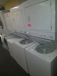 "GE electric laundry center 27""wide washer and dryer"