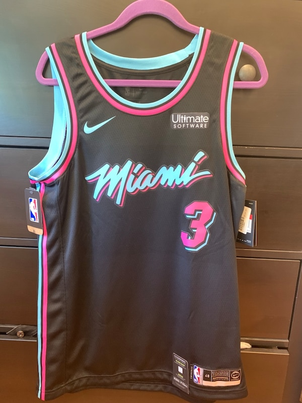 new product 1e0d7 80295 Dwyane Wade Miami Heat Vice Nike Swingman Jersey