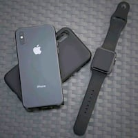 space gray iPhone X and black case Maryland
