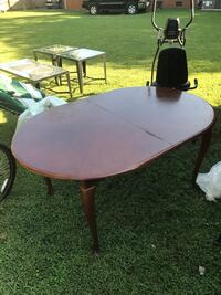 Oval brown wooden table] Charlotte, 28216