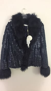 Women's black fur coat 542 km