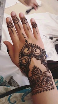 Brown henna tattoo/ Art.  Alexandria, 22311