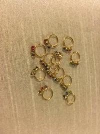 Nose rings for pierce nose colors stone and white stone available  take any 5 nose rings get 1 free  Edmonton, T6T 0M7