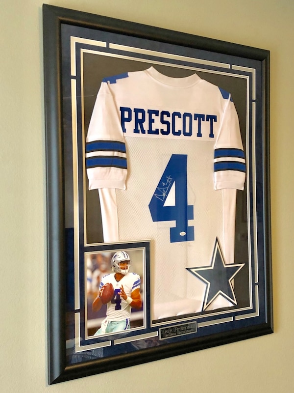 separation shoes 40fe5 9a3e4 Dak Prescott JSA certified framed jersey! Mint condition. Signature is on  authentic Dallas Cowboys home jersey. Framing is on no glare glass.