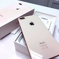 gold iPhone 8 Plus with box 14 km