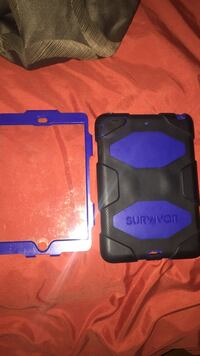 black and blue tablet computer case