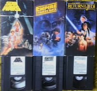 Star Wars Original Trilogy - 1990 VHS Set London