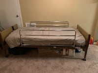 Bed frame, mattress, & pressure topper  Capitol Heights, 20743