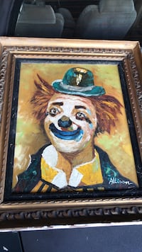 Painting of clown with black frame Lake Forest, 60045