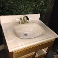 Sink and faucet vanity style
