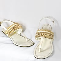 pair of white leather sandals Scottsdale, 85254