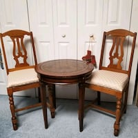 Round Table and 2 Antique Chairs  Nottingham, 21236