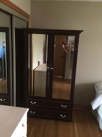 black wooden cabinet with mirror Toronto, M3H 4R4
