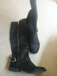 pair of black leather pirate boots Auburn, 98002