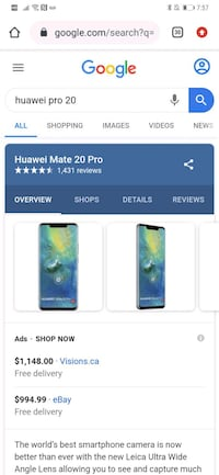 Cell phone Huawei Mate pro 20