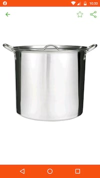 Stainless steel 20quarts stockpot Mississauga, L5B 3Y9