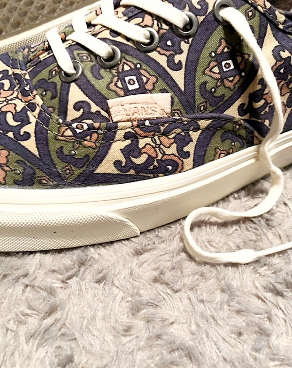Vans lo-top paid $65 size 13 printed design. Excellent condition has no signs of wear.  6023cb26-6316-4b16-a38d-d07b7b3ebb6b