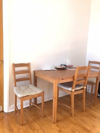 Kitchen table + 4 chairs (IKEA)  Montréal, H2S 2N7