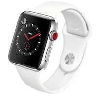 Apple Watch 3 GPS LTE Stainless Steel White Band Surrey, V3Z 0L3