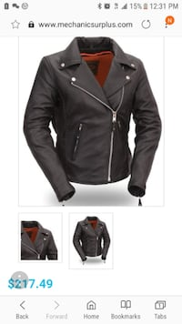 black leather zip-up jacket screenshot New Mexico
