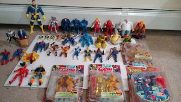 assorted super heroes early 90's action figures