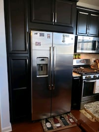 stainless steel side by side refrigerator with dispenser Ashburn, 20148