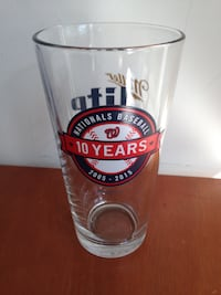 Nationals Baseball 10 Years Limited Edition Miller Lite Beer Glass McLean
