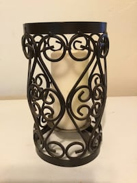 Black Wrought Iron Outdoor holder with Candle Charleston, 61920