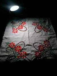 white and red floral textile Saint Helena, 94574