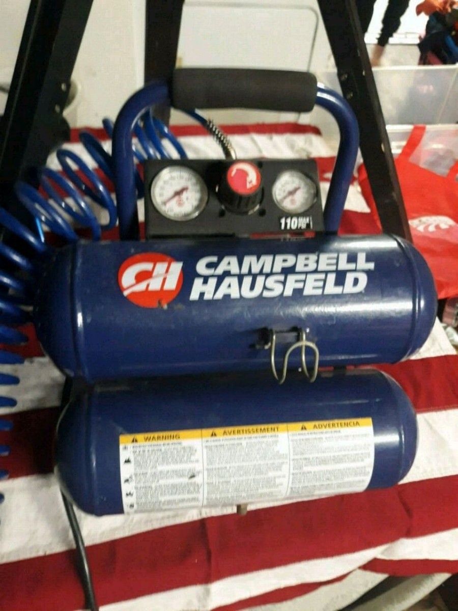 black and blue Campbell Hausfeld air compressor for sale  Oklahoma City