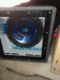 Pyle subwoofer and Boss Riot amp. 713 mi
