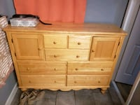 brown wooden dresser with mirror Capitol Heights, 20743