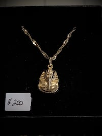 10k real yellow gold chain with charm